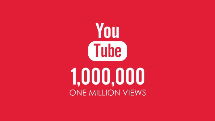 مليون مشاهدة على اليوتيوب
