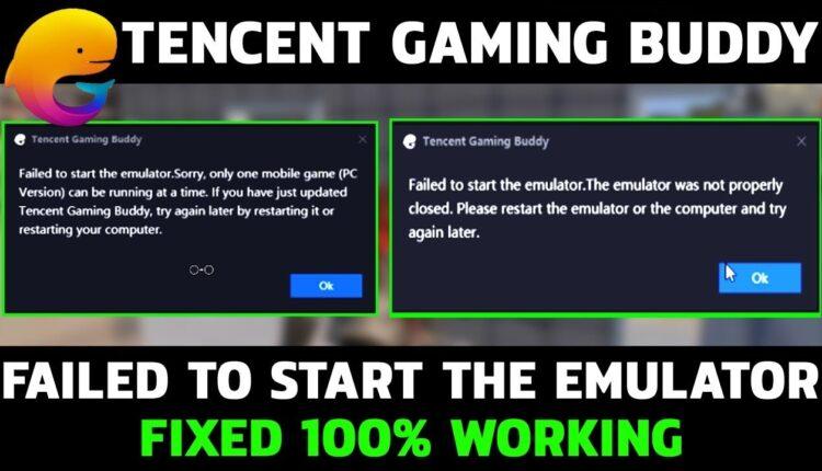 حل مشكلة failed to launch gaming buddy